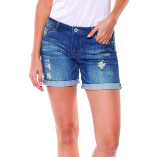 Women's Distressed Mid Short