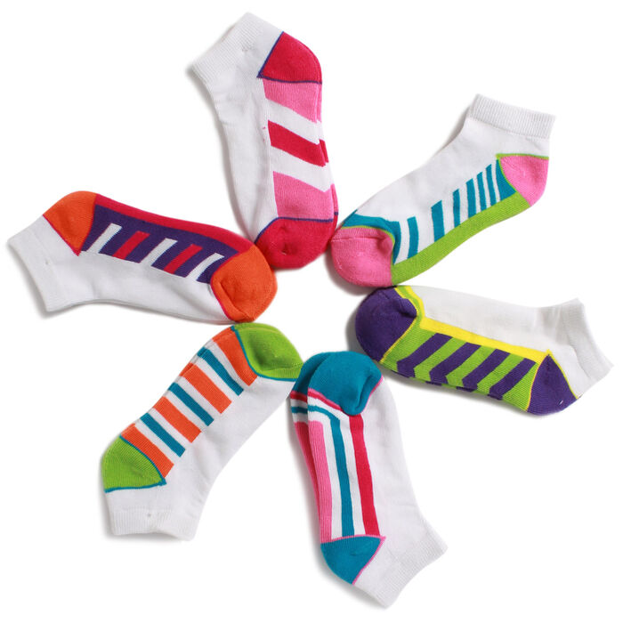 Girls' [8-20] Six Pack Ankle Socks