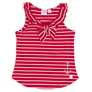 Girls' [3-6] Striped Bow Tank Top