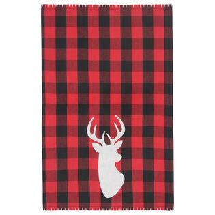 Buffalo Check Deer Dishtowel