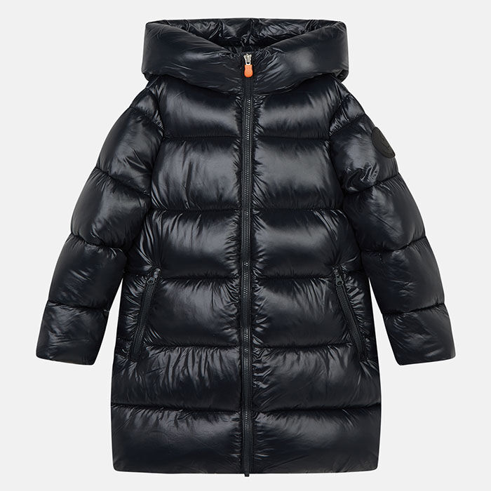 Junior Girls' [8-16] Luck Hooded Maxi-Quilted Coat