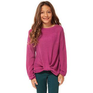 Chandail en tricot côtelé à boucle pour filles juniors [7-14]
