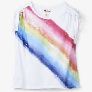 Girls' [2-6] Rainbow Cinched Shoulder T-Shirt