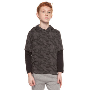 Junior Boys' [8-16] Layered Camo Hoodie