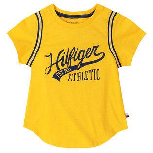 Junior Girls' [7-16] Athletic Logo T-Shirt
