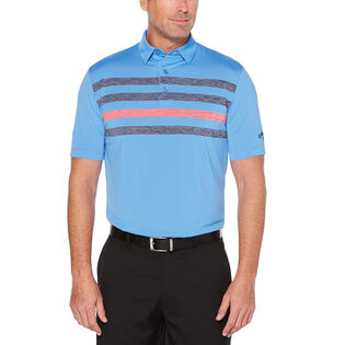 Men's Space Dye Stripe Polo