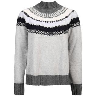 Women's Fair Isle Flare Mock Sweater