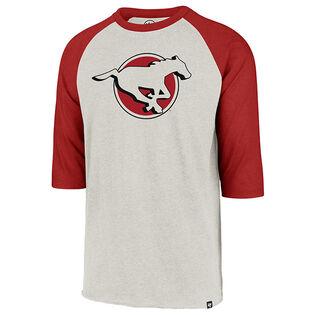 Men's Calgary Stampeders Imprint Club Raglan 3/4 T-Shirt