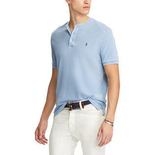 T-shirt Henley en maille ultralégère pour hommes