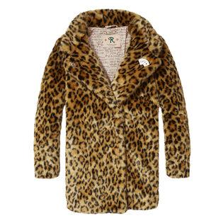 Manteau en fausse fourrure léopard pour filles juniors [8-14]