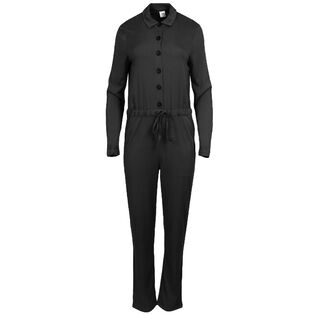 Women's Button-Up Long Sleeve Jumpsuit