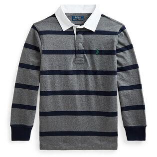 Chandail de rugby en jersey de coton pour garçons [5-7]