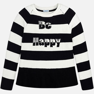 Junior Girls' [8-16] Striped Sweater
