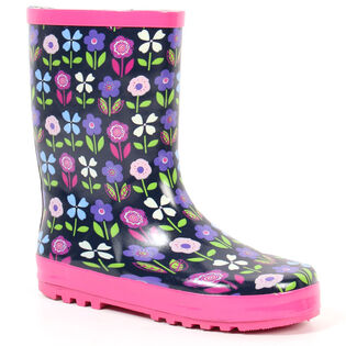 Kids' [11-4] Flower Rain Boot
