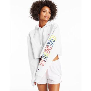 Women's Reverse Weave® Crop Multicolour Logo Hoodie