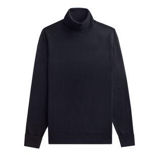 Men's Fine Gauge Roll Neck Sweater