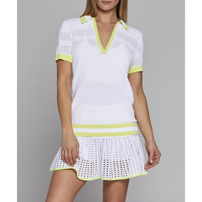 Polo de tennis en tricot pour femmes