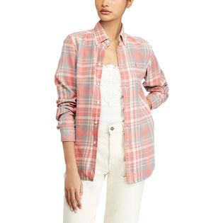 Women's Classic Fit Cotton Plaid Shirt