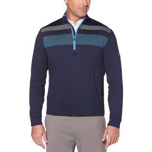 Men's Quarter-Zip Chest Stripe Top
