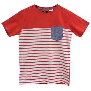 Boys' [4-7] Striped Colourblock T-Shirt