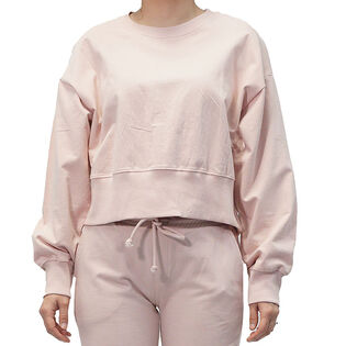 Women's French Terry Crop Pullover Sweatshirt