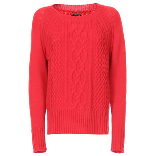Women's Merino Cable Crew Sweater