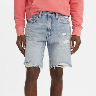 Short en jean ajusté pour hommes