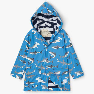 Boys' [2-8] Deep Sea Sharks Colour Changing Raincoat