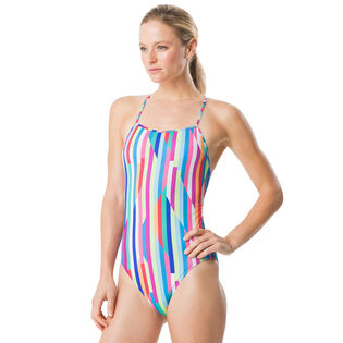 Women's Turnz Printed Tie Back One-Piece Swimsuit
