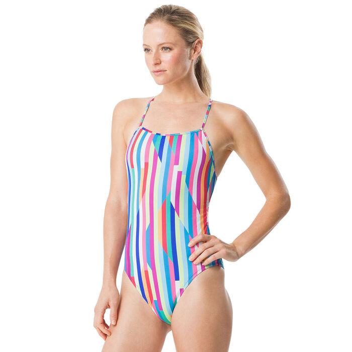 Women's Turnz Printed Tie Back One-Piece Swimsuit