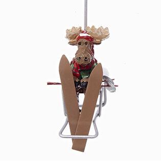 Moose Chair Lift Ornament