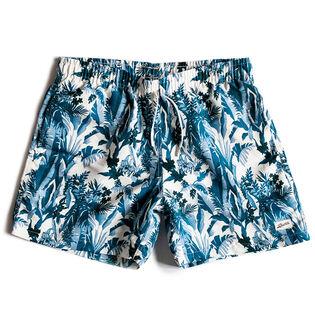 Men's Blue Tropical Forest Swim Trunk