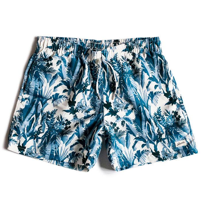 Maillot de bain Blue Tropical Forest pour hommes