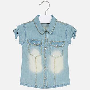 Chemise en denim pour fillettes [2-6]