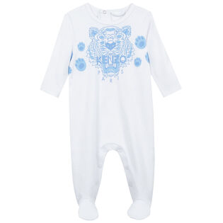 Baby Boys' [3-12M] Tiger Embroidered One-Piece Jumpsuit