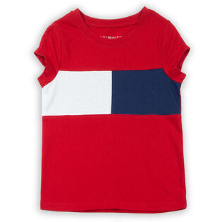 Junior Girls' [7-16] Flag Logo T-Shirt