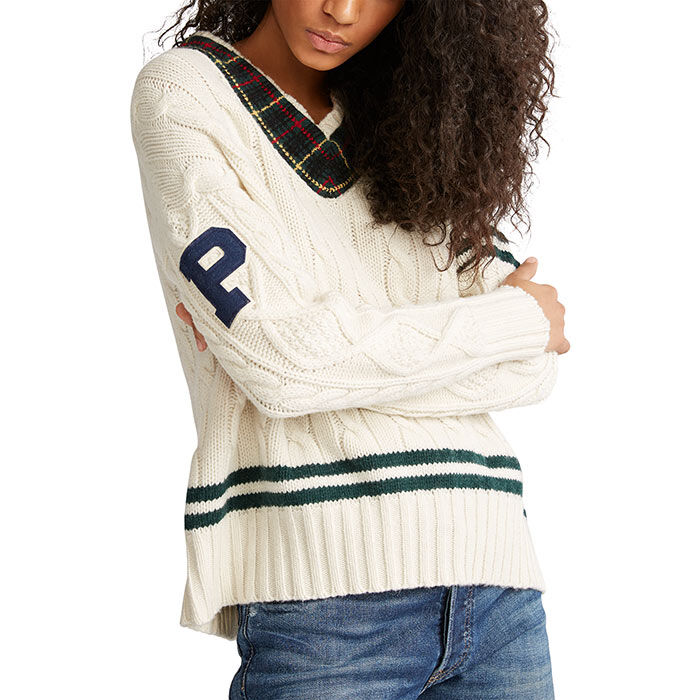 Women's Cable Knit Cricket Sweater