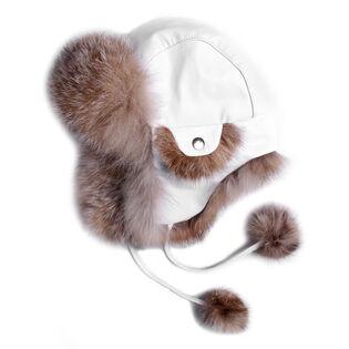 Women's Leather Trapper Hat