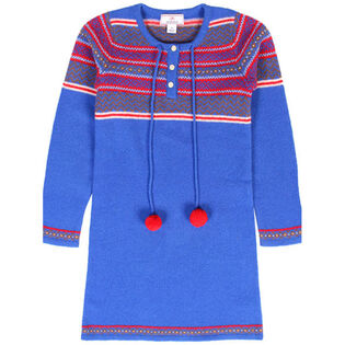 Junior Girls' [8-14] Pom Pom Wool Dress