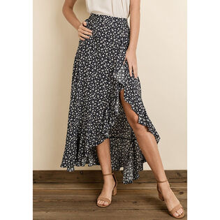 Women's Star Floral Ruffled Maxi Skirt