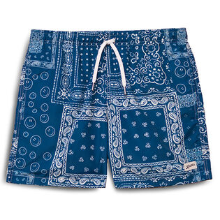 Men's Blue Bandana Swim Trunk