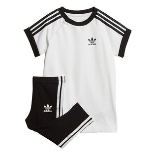 Babies' [6M-3Y] 3-Stripes Dress Two-Piece Set
