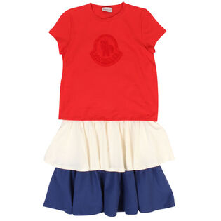 Junior Girls' [8-14] Tiered Logo Dress