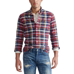 Chemise oxford à carreaux pour hommes