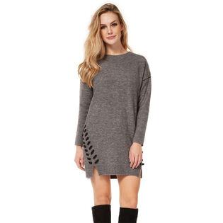 Women's Laced Seam Sweater Dress