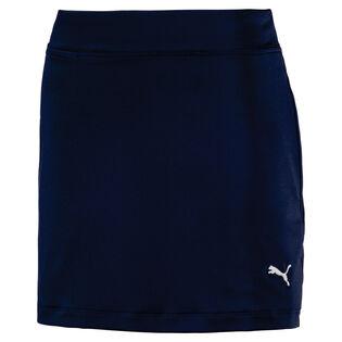 Junior Girls' [7-16] Solid Knit Golf Skirt