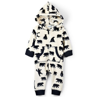 Babies' [3-24M] Bears Hooded Fleece Jumpsuit