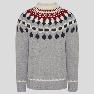 Men's Wool Jacquard Crew Sweater