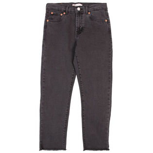 Junior Girls' [7-16] High Rise Straight Ankle Jean