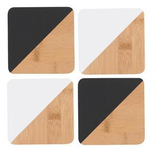 Angle Bamboo Coaster Set